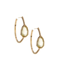 Stephen Dweck Lemon Quartz Hoop Earrings