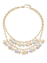 Saks Fifth Avenue Mixed Metal Starfish Bib Necklace Gold Multi