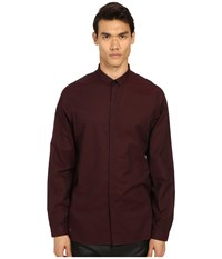 The Kooples Cotton Organza Shirt Burgundy