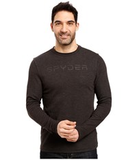 Spyder Pump Therma Stretch T Neck Top Black 1 Men's Long Sleeve Pullover