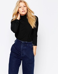 B.Young High Neck Ribbed Jumper Black
