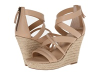 Joe's Jeans Robina Sand Leather Women's Wedge Shoes Beige