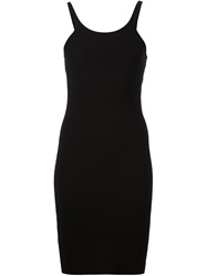 T By Alexander Wang Fitted Sleeveless Dress Black