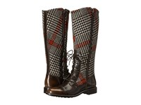 Woolrich Roadhouse Java Red Plaid Wool Women's Boots Brown