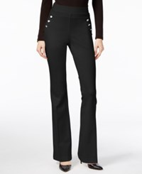 Inc International Concepts Curvy Flare Leg Trousers Only At Macy's Deep Black