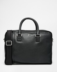 Tommy Hilfiger Malcolm Briefcase In Leather Black