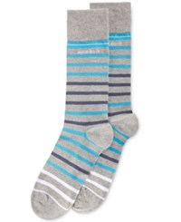 Hugo Boss Men's Striped Socks Silver