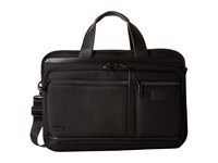 Hartmann Hypertex Double Compartment Expandable Brief Black Briefcase Bags