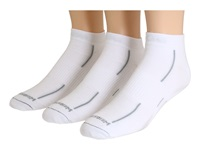 Wrightsock Stride Lo 3 Pair Pack White Grey Stripe Low Cut Socks Shoes