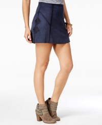 American Rag Crocheted Faux Suede A Line Skirt Only At Macy's Midnight Blue