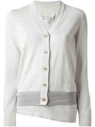 Maison Martin Margiela Layered V Neck Cardigan White