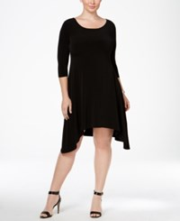 Alfani Plus Size Fit And Flare Knit Dress Only At Macy's Deep Black