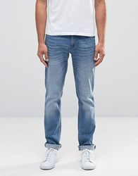 Sisley Slim Fit Jeans In Light Stone Wash Light Wash Blue