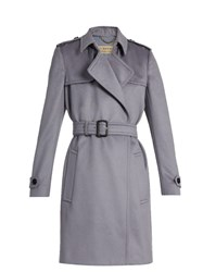 Burberry Tempsford Cashmere Wrap Coat Grey