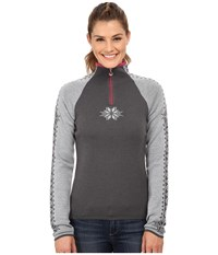 Dale Of Norway Geilo Feminine Grey Allium Women's Long Sleeve Pullover