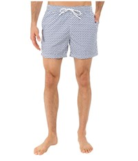 Lacoste Small Patterned Swim Short Nattier Blue 07E Sailboat White Men's Swimsuits One Piece