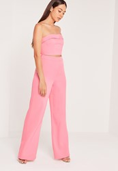Missguided Wide Leg Trouser Pink Pink