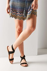Urban Outfitters Louie Suede Ankle Wrap Sandal Black