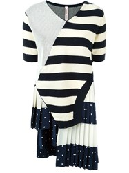 Antonio Marras Patch Striped Knitted Top Blue