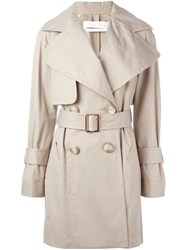 See By Chloe Short Trench Coat Nude And Neutrals