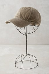 Anthropologie Washed Canvas Baseball Cap Taupe