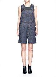 Givenchy Denim Dungaree Rompers Blue