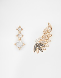 New Look Glam Rose Ear Cuff Pack Gold