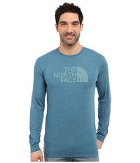 The North Face Long Sleeve Half Dome Tee Blue Coral Heather Mineral Blue Men's T Shirt