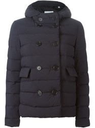 Aspesi Hooded Padded Jacket Blue