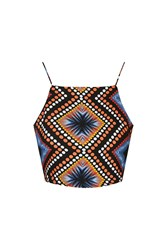 Glamorous Printed Tie Back Cami By Multi