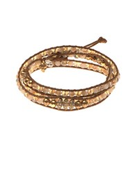 Lonna And Lilly Beaded Wrap Bracelet Natural