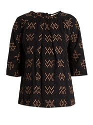 Ace And Jig Beatrice Woven Cotton Top Black Multi