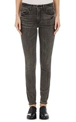 Helmut Lang Women's Distressed Skinny Jeans Light Grey