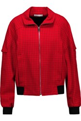 J.W.Anderson Checked Wool And Mohair Blend Jacket Red