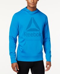 Reebok Men's Speedwick Fleece Logo Hoodie Blue