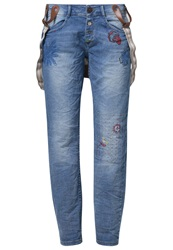 Desigual Relaxed Fit Jeans Denim Light Wash Blue
