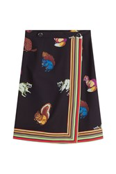 Marco De Vincenzo Printed Crepe Skirt Multicolor
