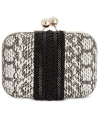 Inc International Concepts Elenaa Clutch Only At Macy's Black White