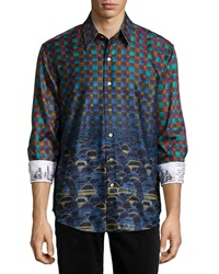 Robert Graham Forget Me Not Sport Shirt Multi Color