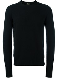 Drumohr Crew Neck Fine Knit Jumper Black