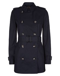 Jaeger Short Classic Trench Coat Navy
