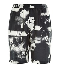 Mcq By Alexander Mcqueen Mcq Alexander Mcqueen Abstract Floral Shorts Male Black