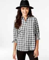 G.H. Bass And Co. Plaid Button Down Shirt Grey Multi