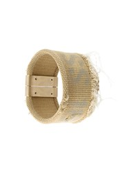 Maison Martin Margiela Maison Margiela Canvas Cuff Nude And Neutrals