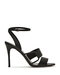 Reiss Josephine Ankle Strap Sandals Black