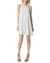 5Twelve Polka Dot Halter Swing Dress White Black