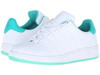 K Swiss Classic Vn Sherbet White Pool Green Leather Women's Tennis Shoes