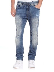 Diesel Narrot Distressed Jogger Jeans Washed Blue