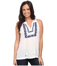 Roper 9876 Halter Neck Rayon Top White Women's Blouse