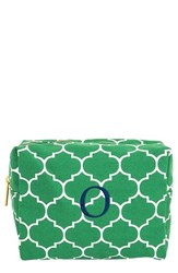 Cathy's Concepts Monogram Cosmetics Case Green O